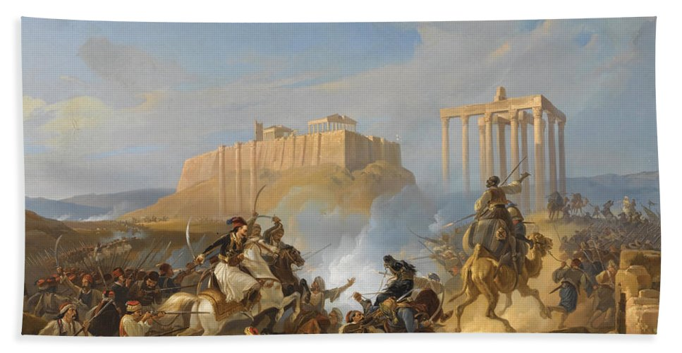 battle scene from the greek war of independence georg perlberg