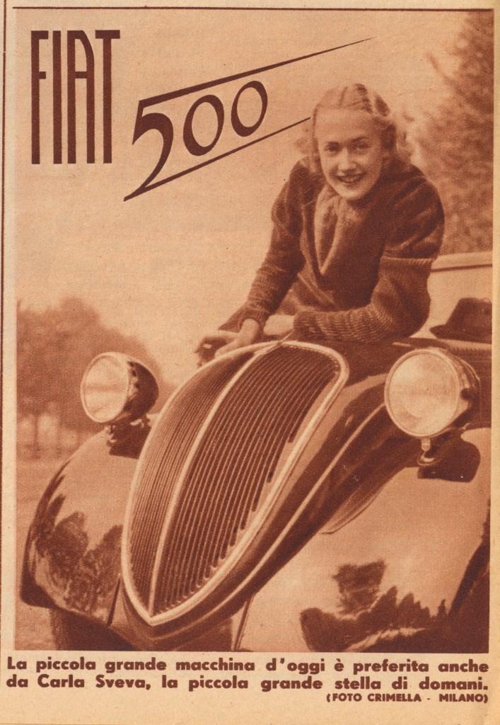 Fiat 500 Topolino. Advertising of 1936