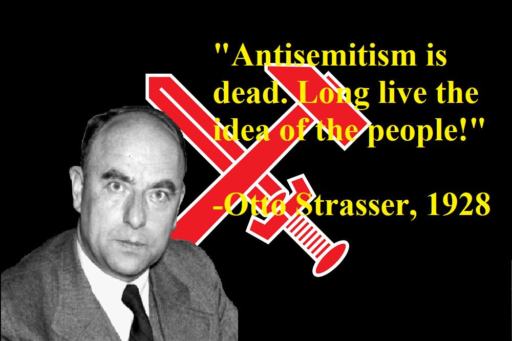 Otto Strasser: Θέσεις για τον ναζιστικό αντισημιτισμό και τον Εβραϊκό Λαό